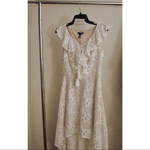 AQUA High/Low Lace Dress